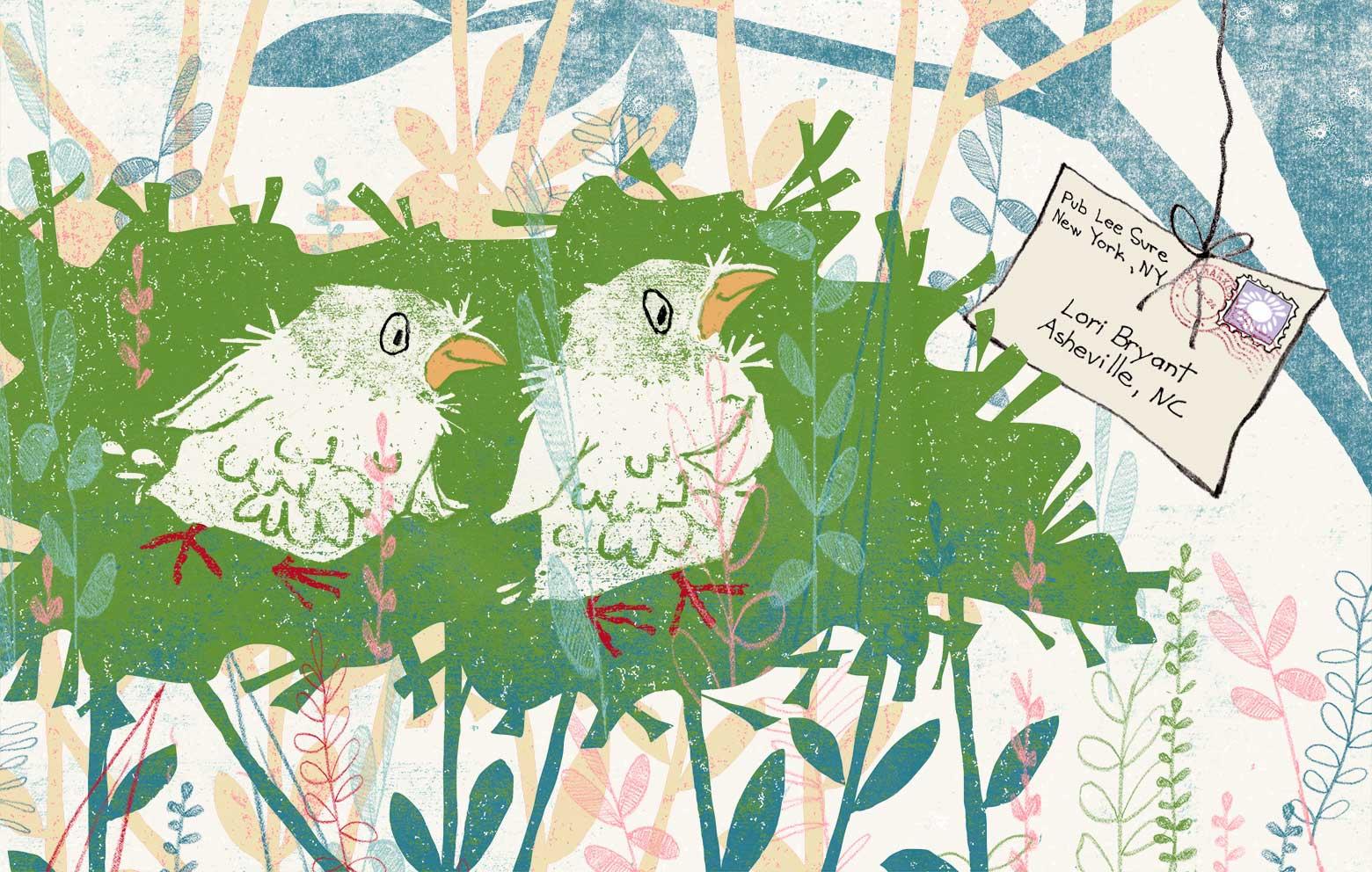 Laura J. Bryant & Lori Bryant illustration of two birds